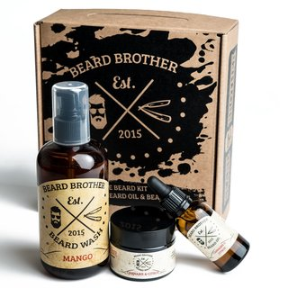 Beard Brother THE BEARD KIT Mango - Bartpflegeset